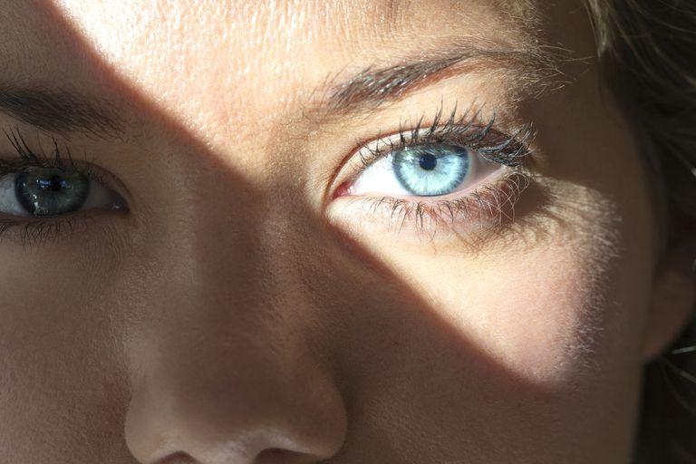 Augen Lichtempfindlich